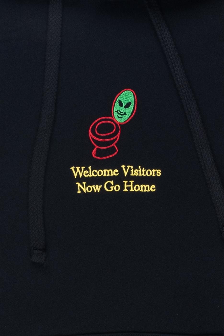 【PAS DE MER/パドゥメ】WELCOME VISITORS HOODY パーカー / BLACK