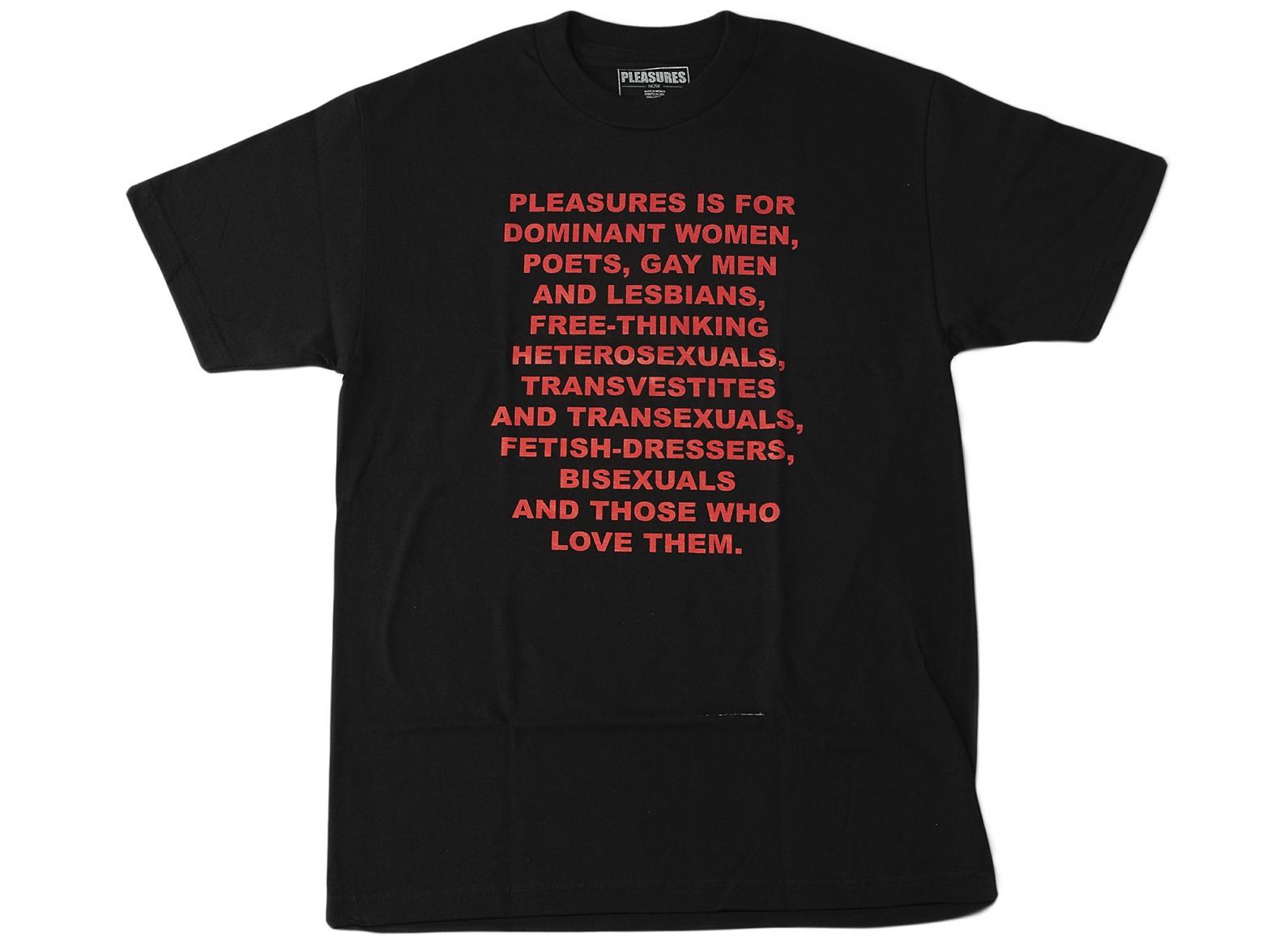 【PLEASURES/プレジャーズ】FREE THINKING T-SHIRT Tシャツ / BLACK