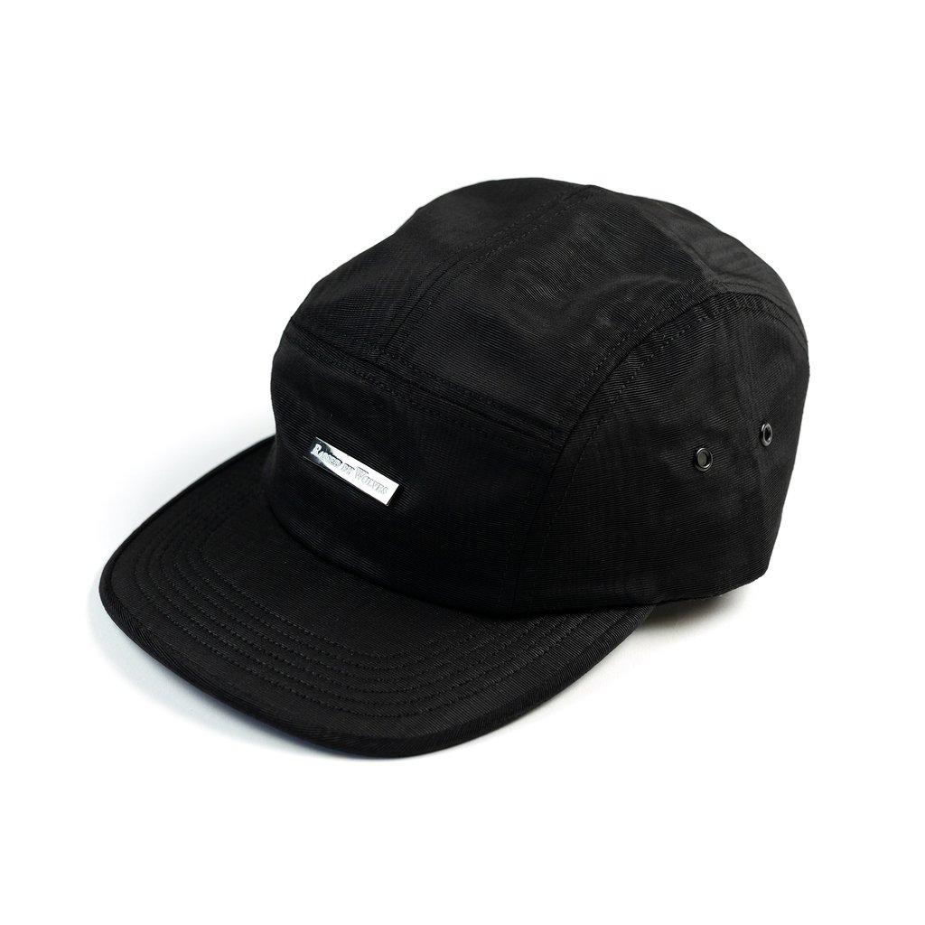 【RAISED BY WOLVES/レイズドバイウルブス】MOIRE 5 PANEL CAP ストラップバックキャップ / BLACK