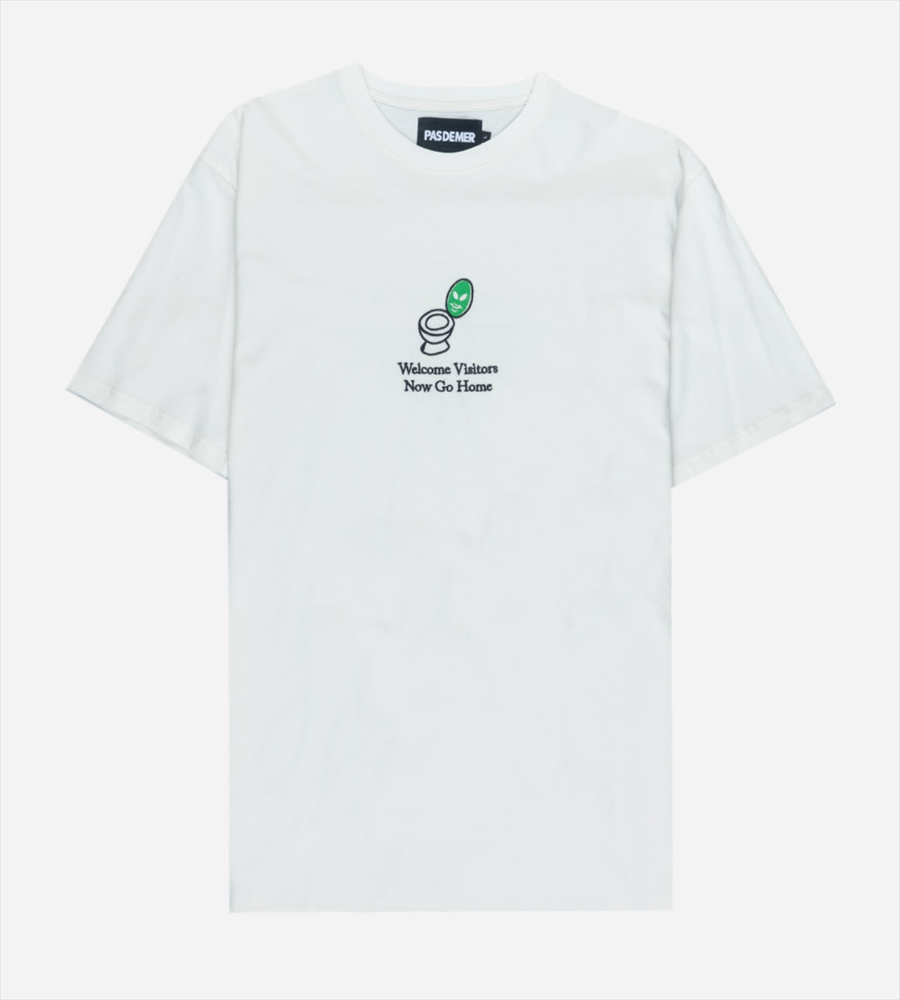 【PAS DE MER/パドゥメ】WELCOME VISITORS T-SHIRT  Tシャツ / NATURAL