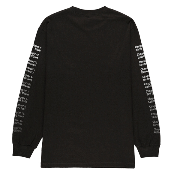 【PLEASURES/プレジャーズ】RETURN LONG SLEEVE T-SHIRT ロングTシャツ / BLACK