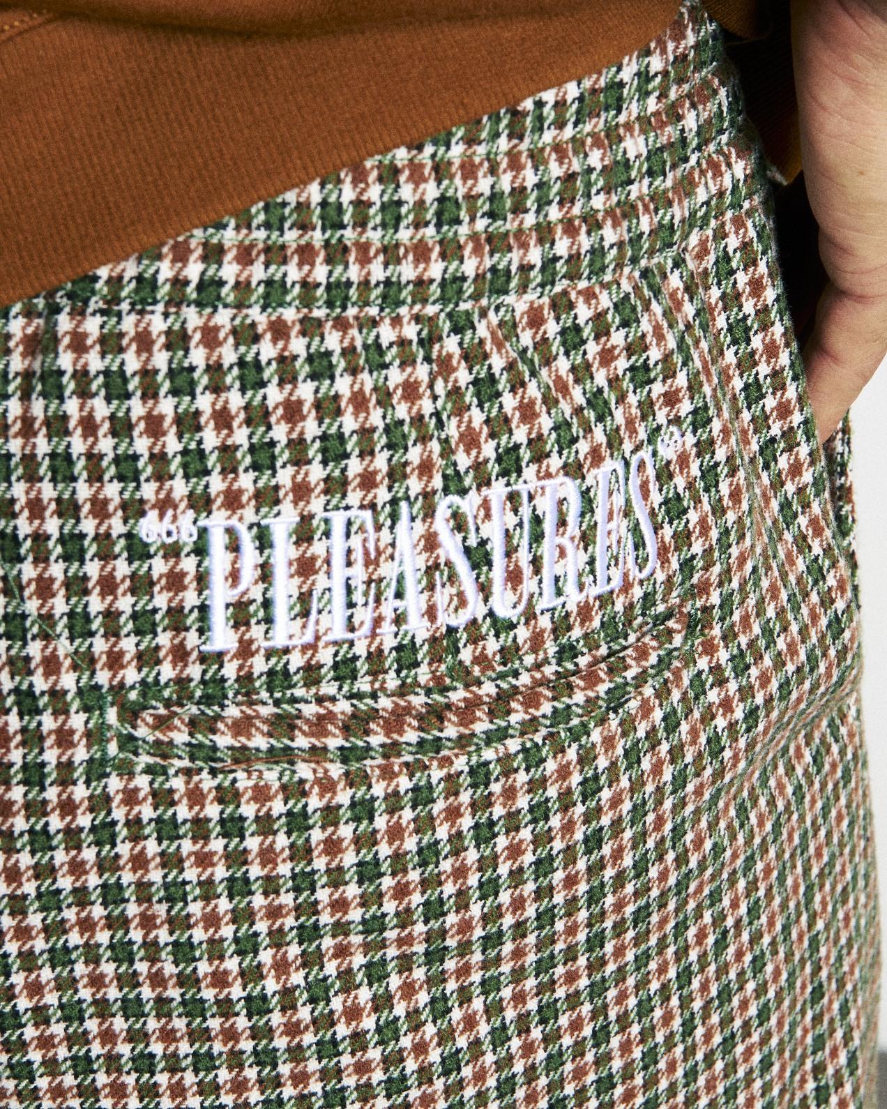 【PLEASURES/プレジャーズ】IGNITION PLAID PANT パンツ / GREEN