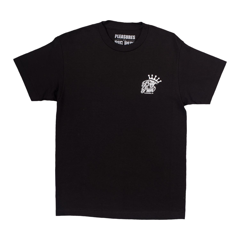 【PLEASURES/プレジャーズ×BIG PUN/ビッグ・パン】KING T-SHIRT Tシャツ / BLACK