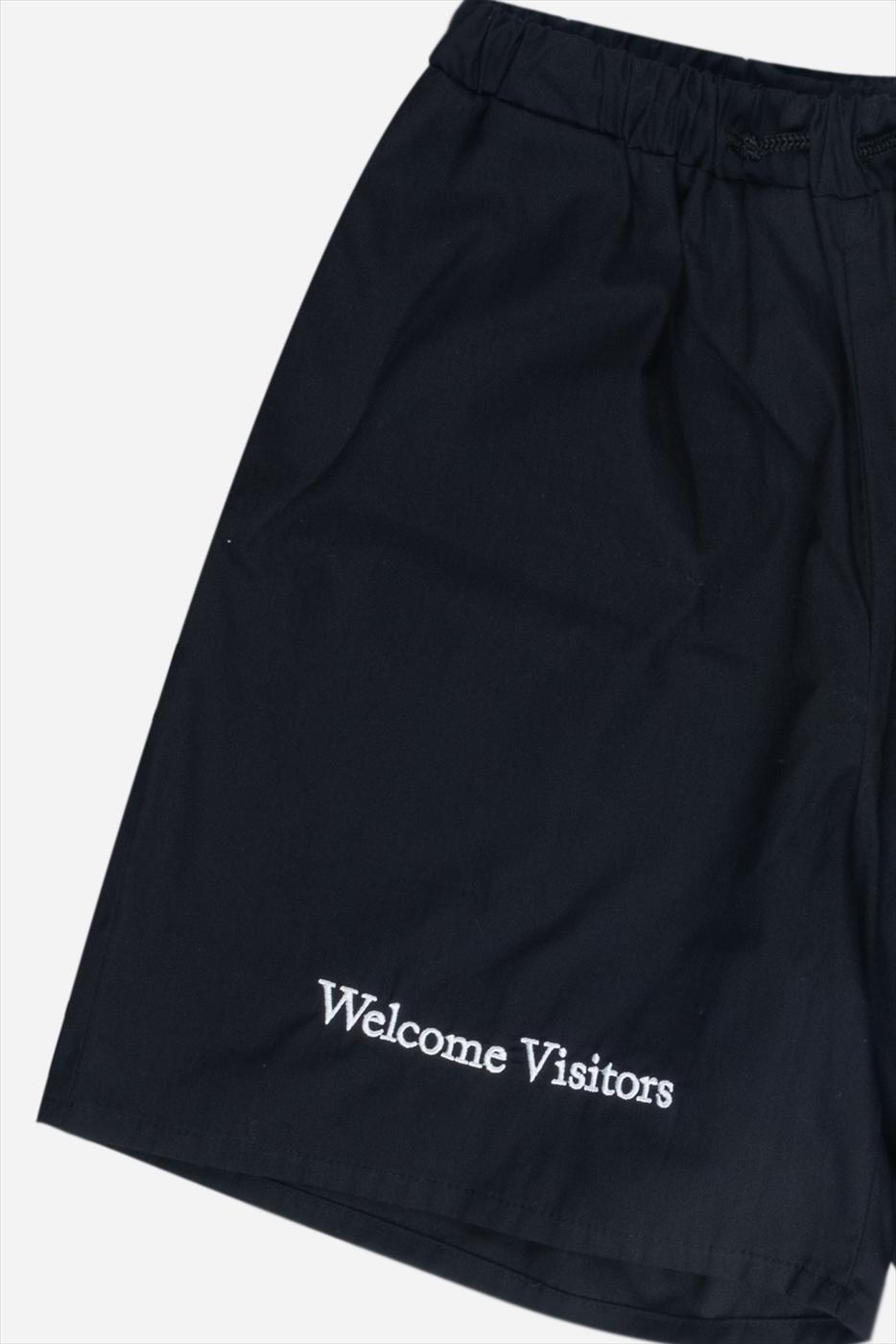 【PAS DE MER/パドゥメ】WELCOME VISITORS SHORTS  ショートパンツ / BLACK