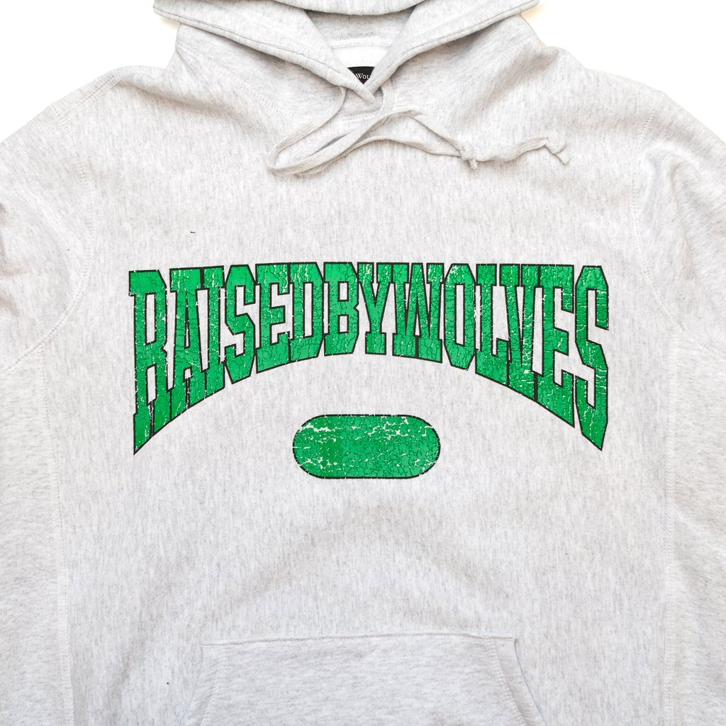 【RAISED BY WOLVES/レイズドバイウルブス】SPORTS HOODIE パーカー / HEATHER ASH
