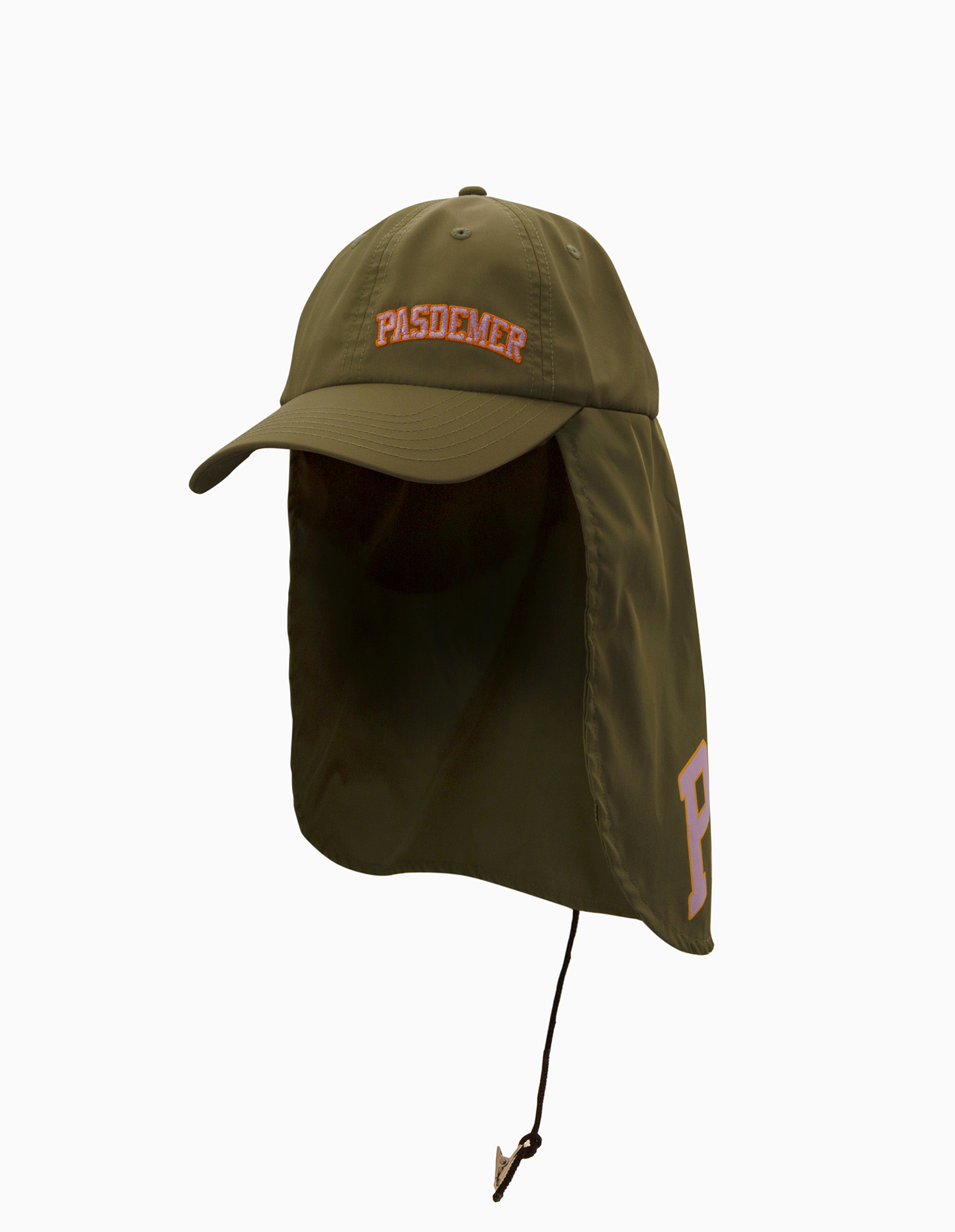 【PAS DE MER/パドゥメ】COLLEGE FISHING HAT キャップ / ARMY GREEN