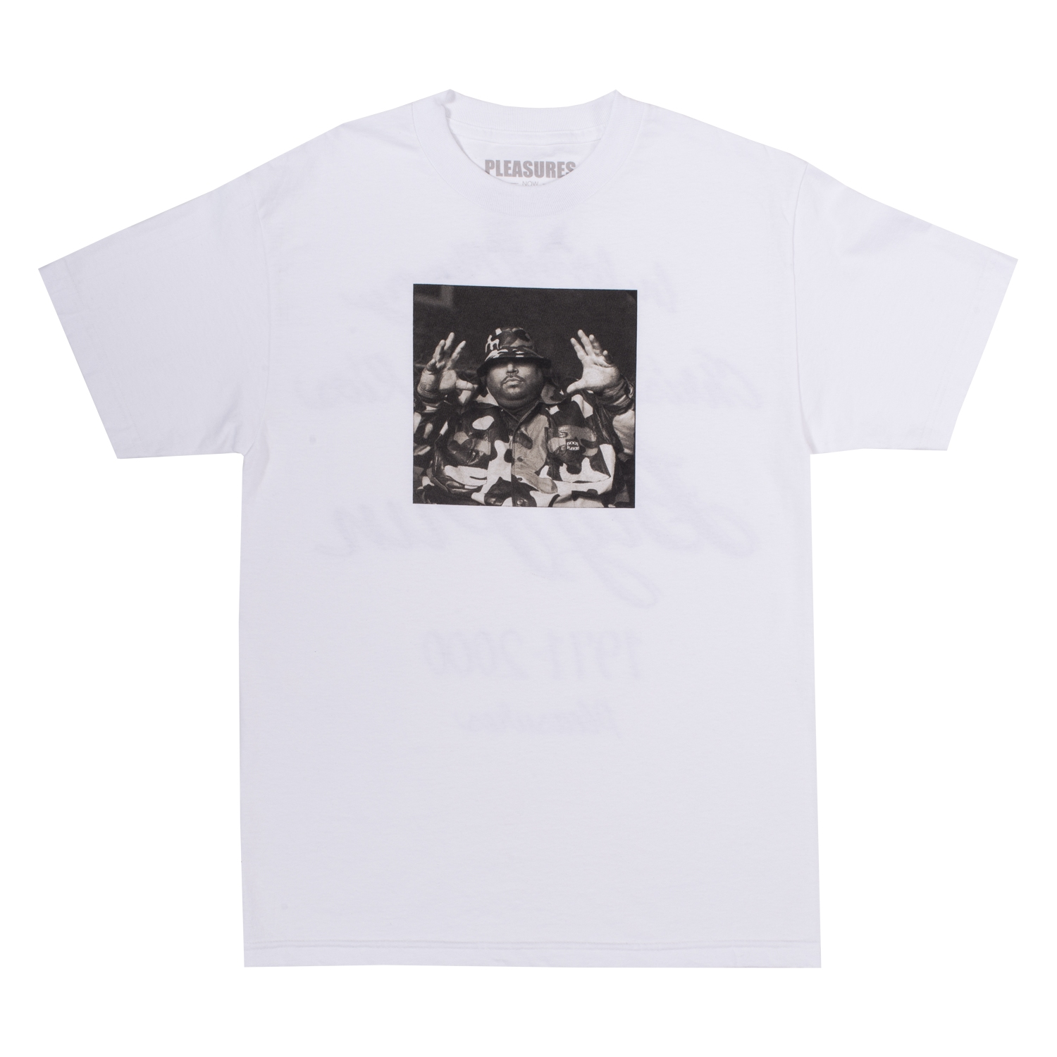 【PLEASURES/プレジャーズ×BIG PUN/ビッグ・パン】CHRISTOPHER T-SHIRT Tシャツ / WHITE