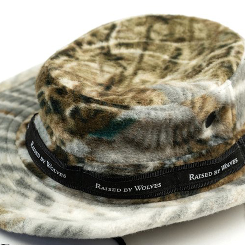 【RAISED BY WOLVES/レイズドバイウルブス】REALTREE DUCKS & FISH POLAR FLEECE BOONIE HAT ブーニーハット / REALTREE
