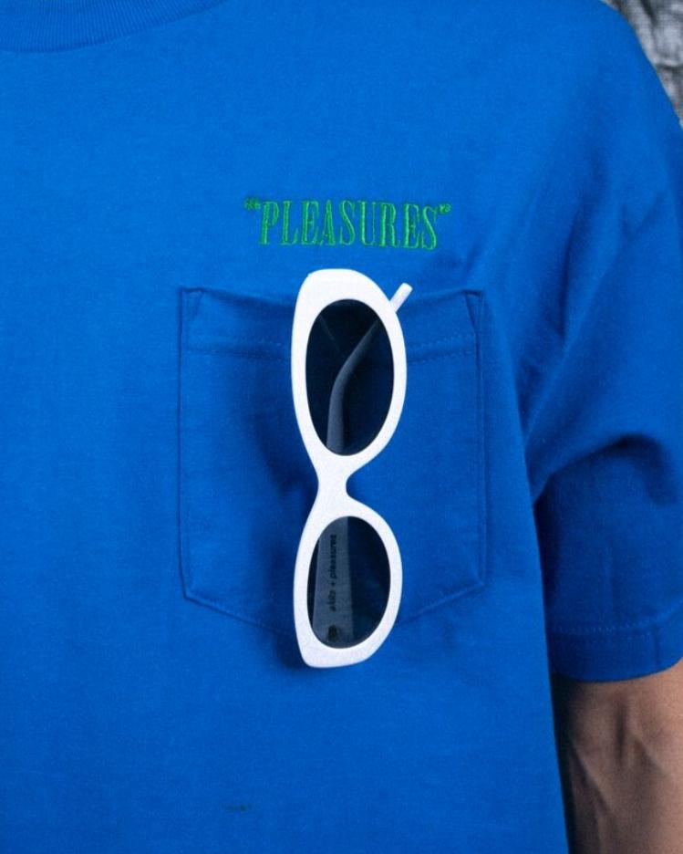 【PLEASURES/プレジャーズ】LITHIUM SUNGLASSES サングラス / WHITE