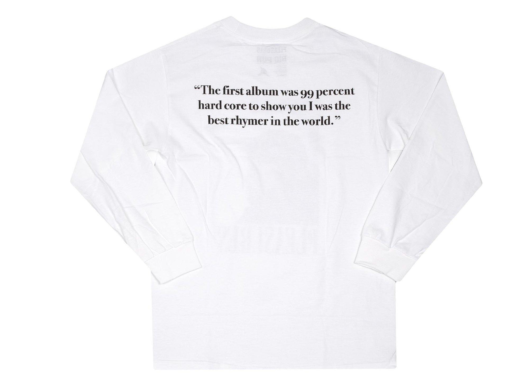 【PLEASURES/プレジャーズ×BIG PUN/ビッグ・パン】BEWARE LONG SLEEVE ロングTシャツ / WHITE