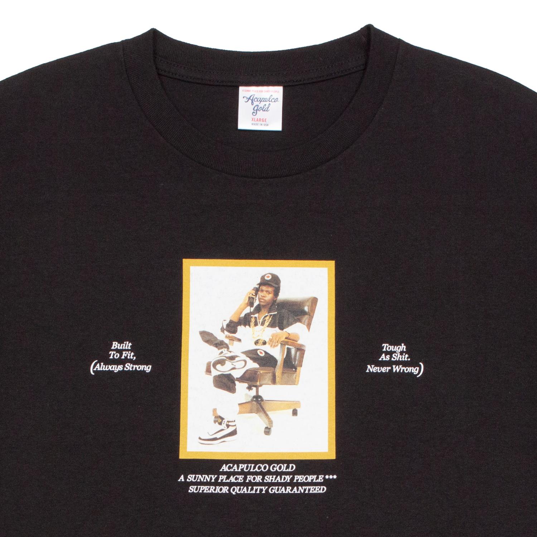 【ACAPULCO GOLD/アカプルコ ゴールド】SINISTER TEE Tシャツ / BLACK
