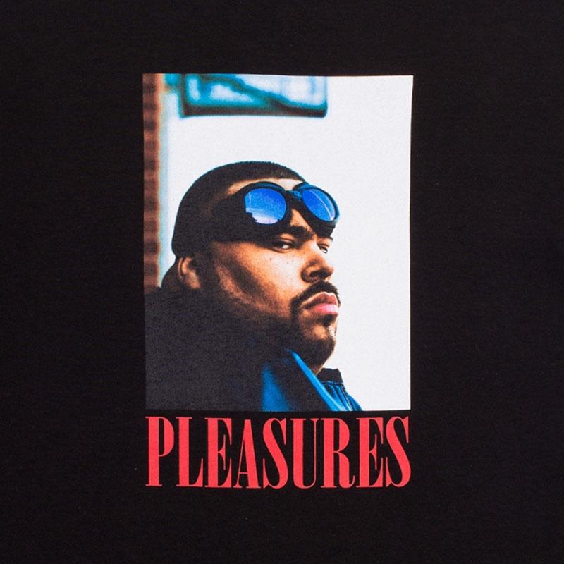【PLEASURES/プレジャーズ×BIG PUN/ビッグ・パン】BEWARE T-SHIRT Tシャツ / BLACK