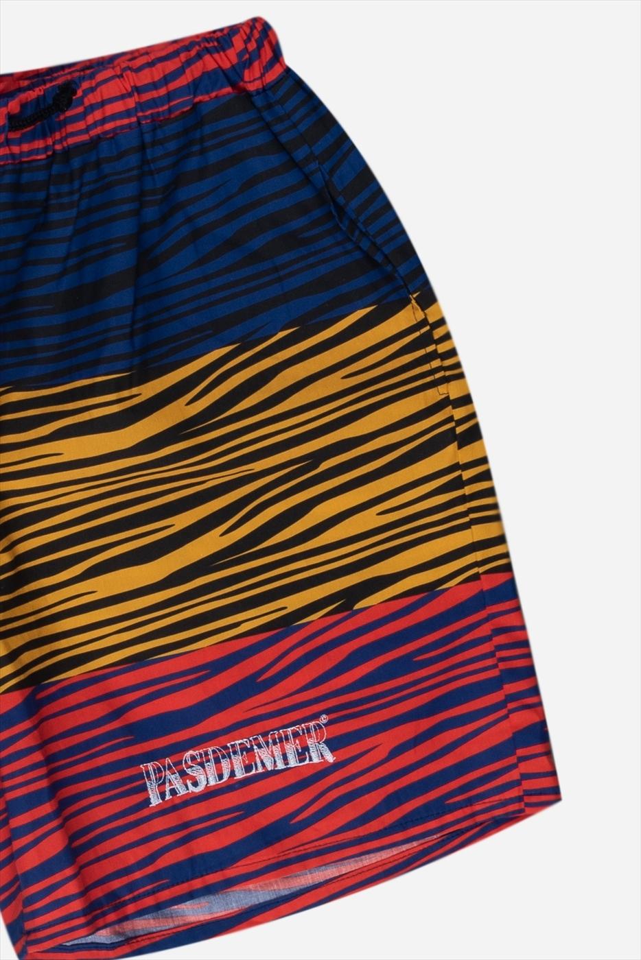 【PAS DE MER/パドゥメ】TIGER SHORTS  ショートパンツ / YELLOW/RED/BLUE PATTERN