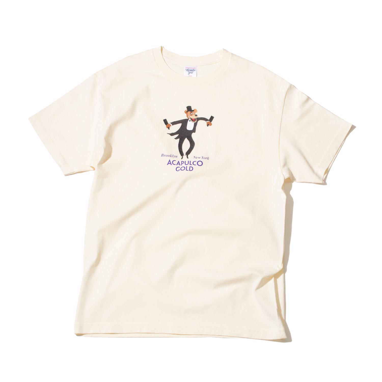 【ACAPULCO GOLD/アカプルコ ゴールド】PARTY BEAR TEE Tシャツ / CREAM