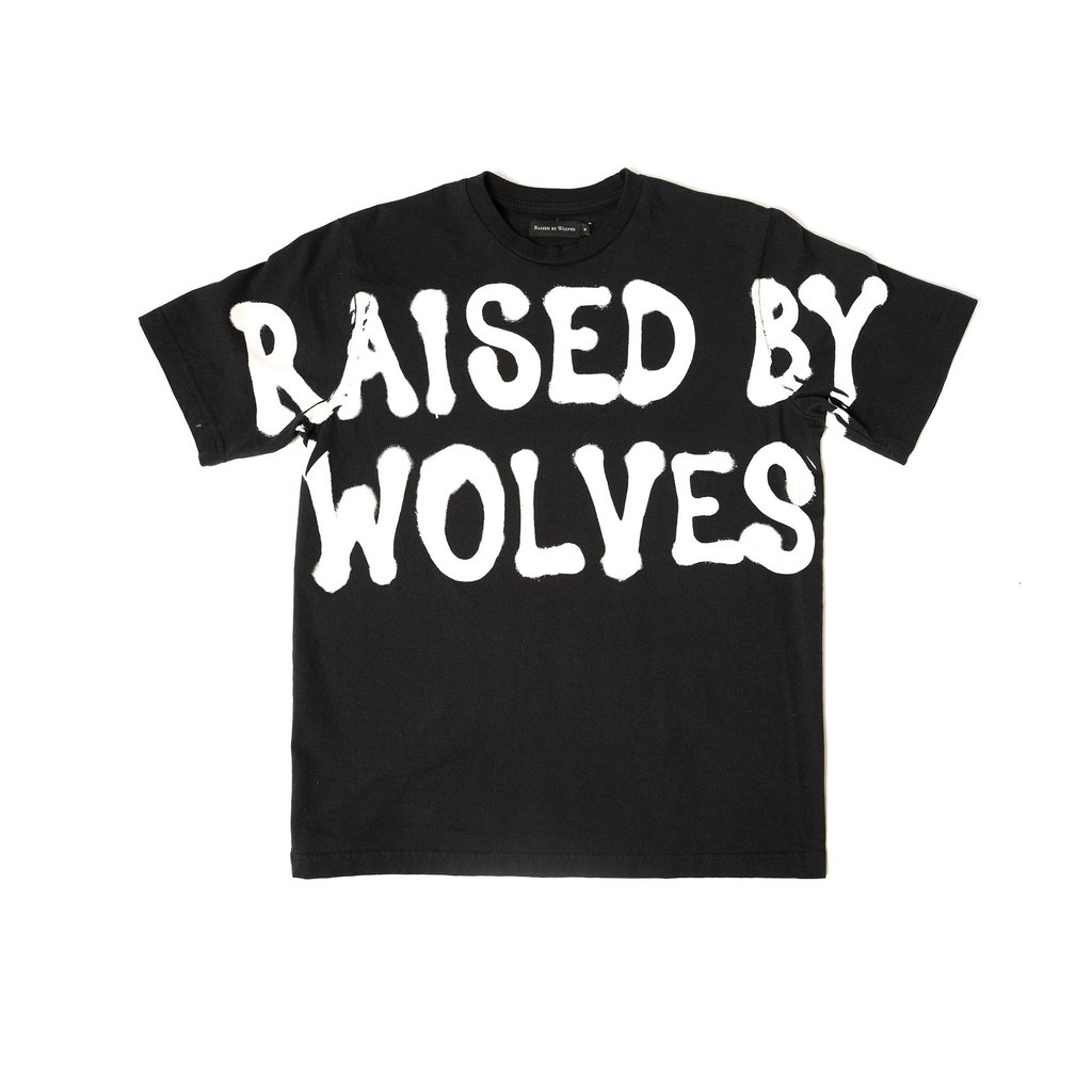 【RAISED BY WOLVES/レイズドバイウルブス】SECURITY TEE Tシャツ / BLACK