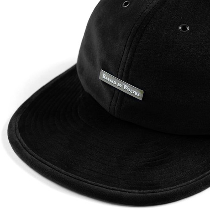 【RAISED BY WOLVES/レイズドバイウルブス】VELVET 6 PANEL CAP ストラップバックキャップ / BLACK