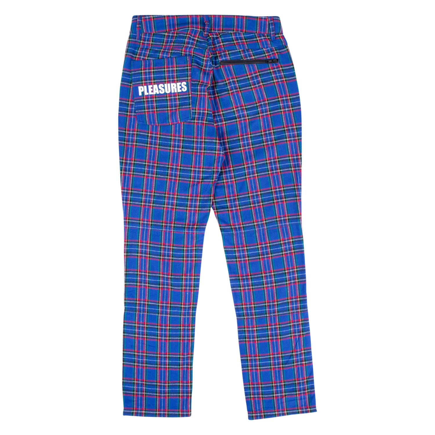 【PLEASURES/プレジャーズ】RESET PLAID PANTS パンツ / BLUE