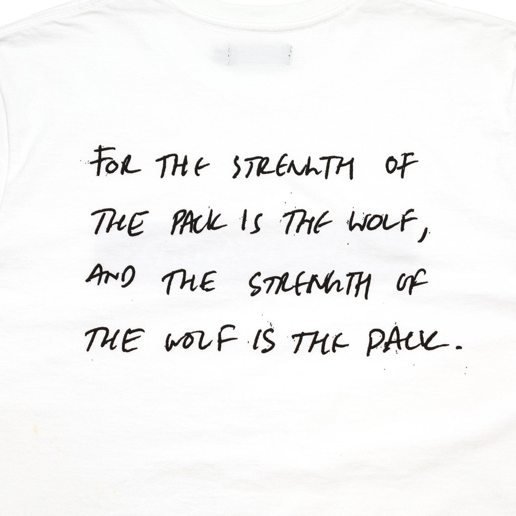 【RAISED BY WOLVES/レイズドバイウルブス】STRENGTH TEE Tシャツ / WHITE
