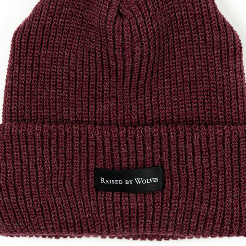 【RAISED BY WOLVES/レイズドバイウルブス】WAFFLE KNIT WATCH CAP ニット帽 / MAROON