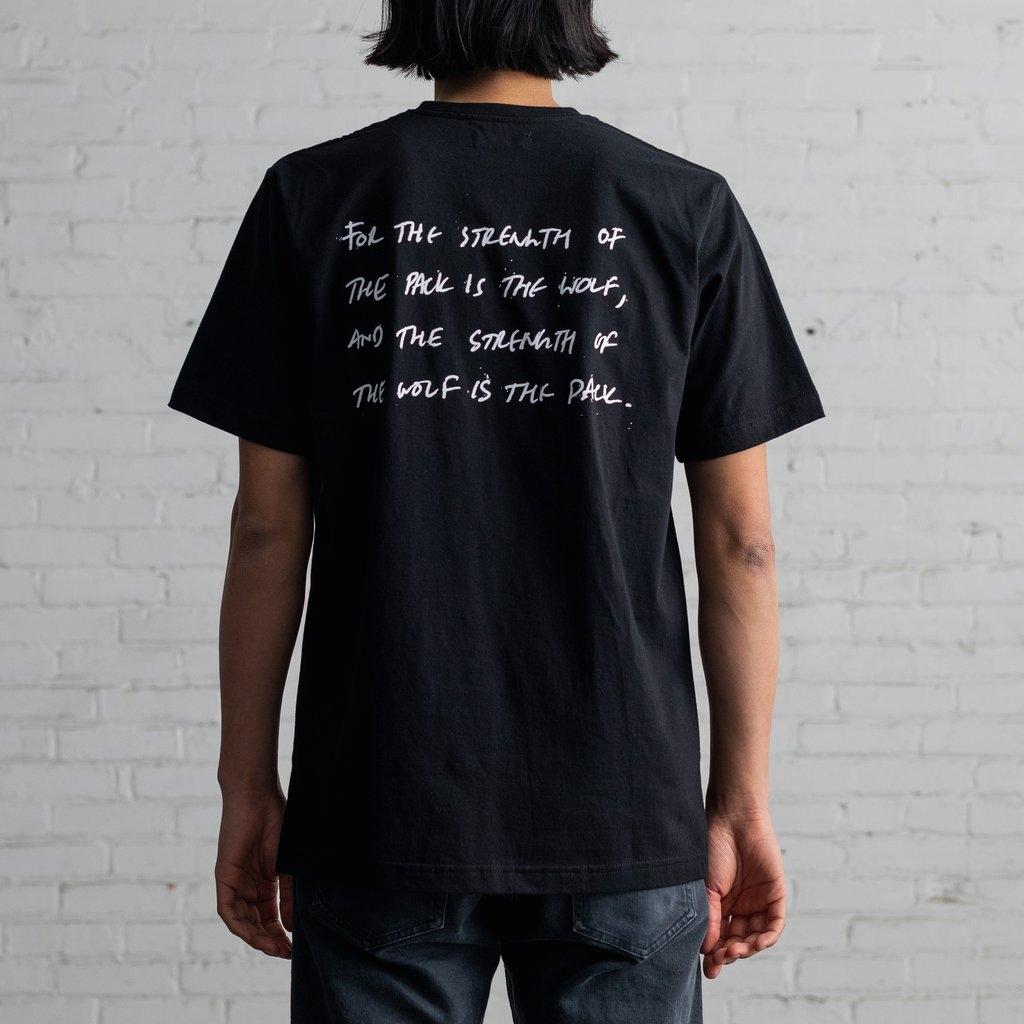 【RAISED BY WOLVES/レイズドバイウルブス】STRENGTH TEE Tシャツ / BLACK