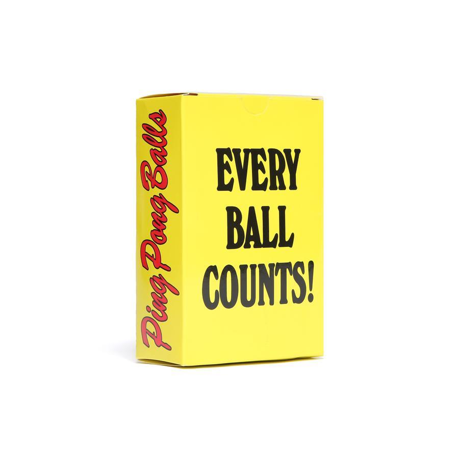 【CHINATOWN MARKET/チャイナタウンマーケット】PING PONG BALL SMILEY 卓球ボール / YELLOW