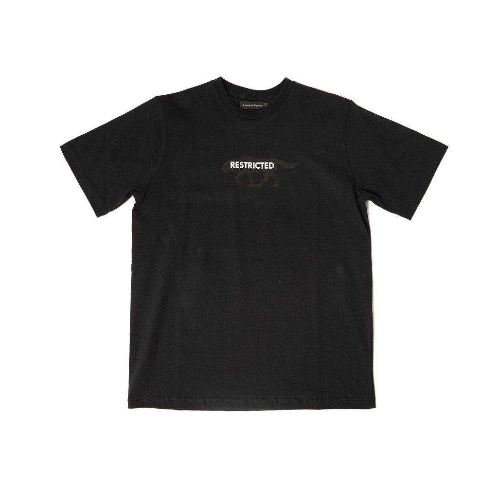 【RAISED BY WOLVES/レイズドバイウルブス】RESTRICTED TEE Tシャツ / BLACK