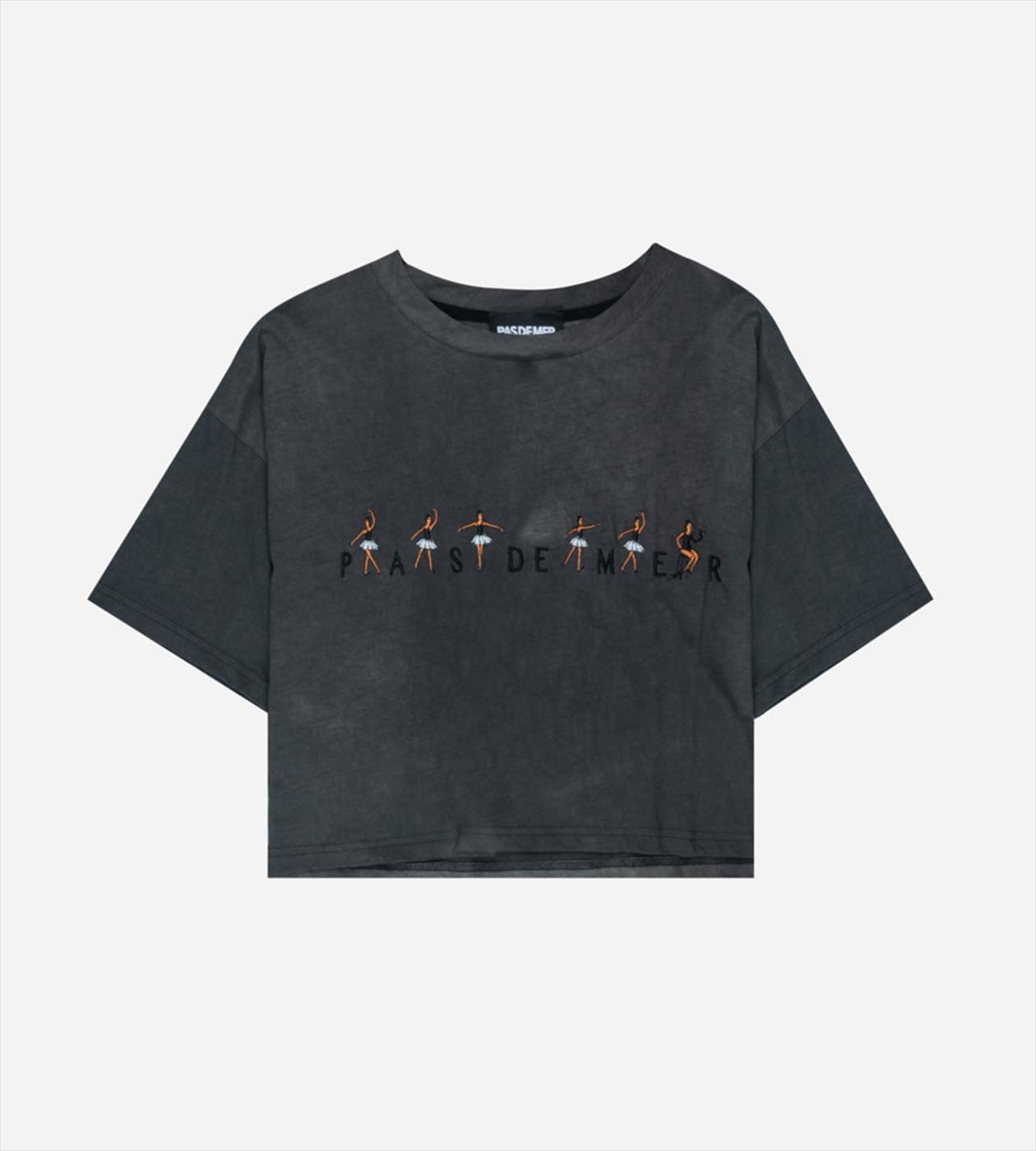 【PAS DE MER/パドゥメ】BALLET CROPPED T-SHIRT ウィメンズクロップドTシャツ / ASPHALT