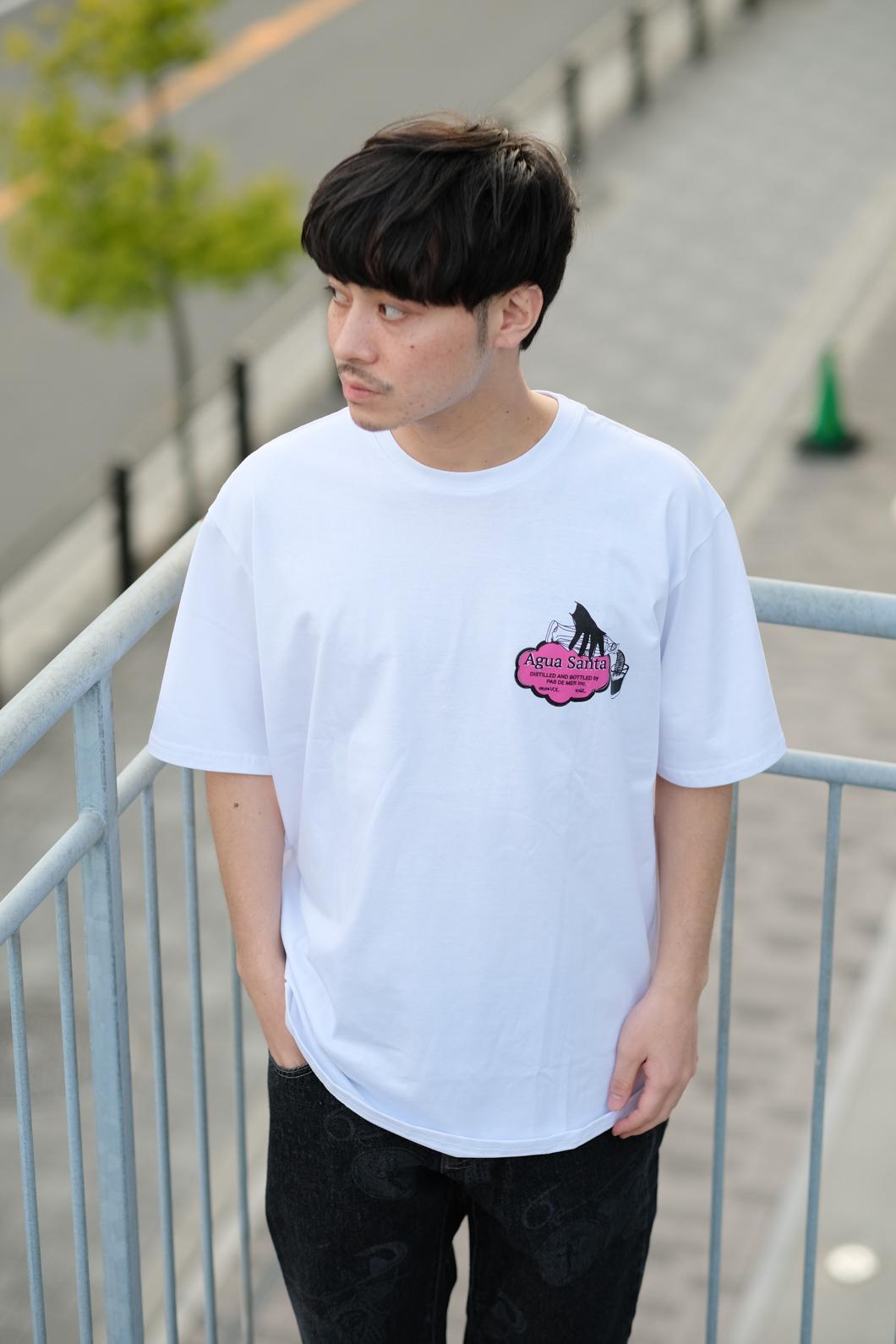 【PAS DE MER/パドゥメ】AGUA SANTA T-SHIRT Tシャツ / WHITE