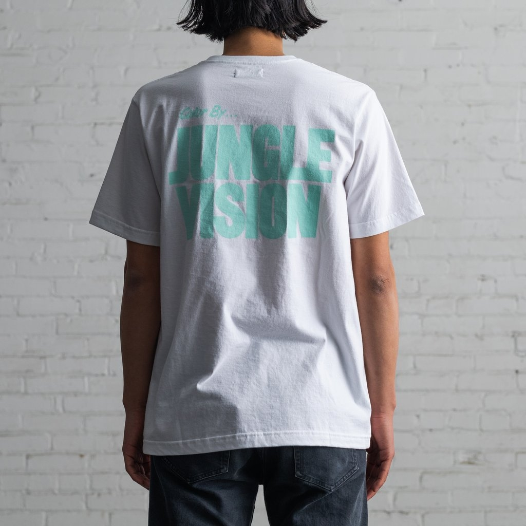 【RAISED BY WOLVES/レイズドバイウルブス】GREEN HAIR TEE Tシャツ / WHITE