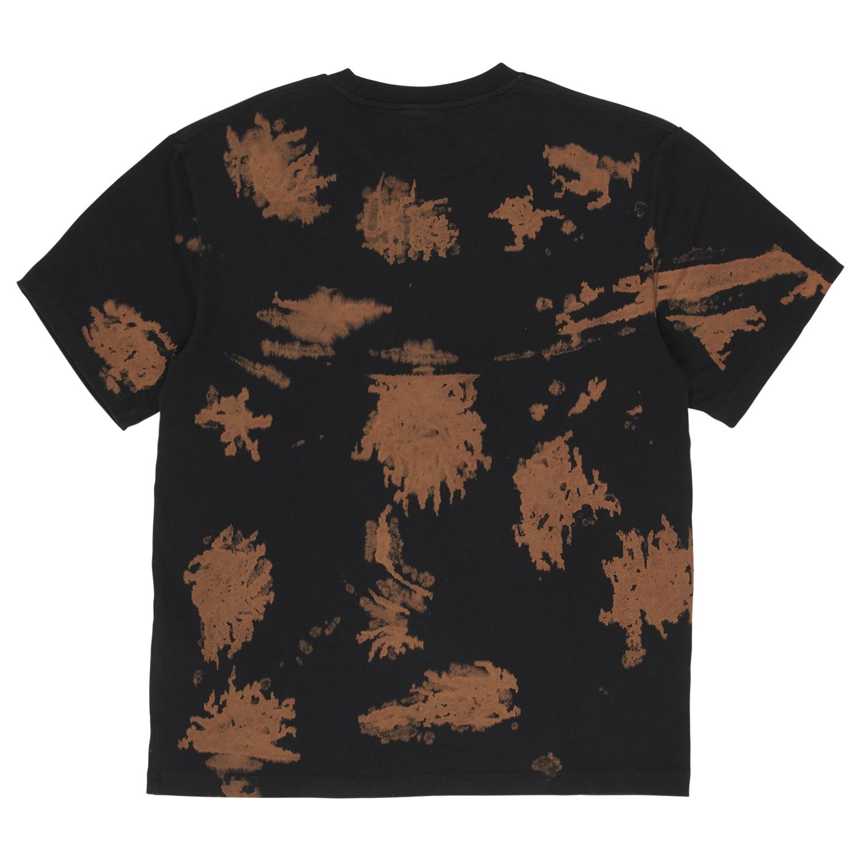 【PLEASURES/プレジャーズ】SWINGER DYE SHIRT Tシャツ / BLACK