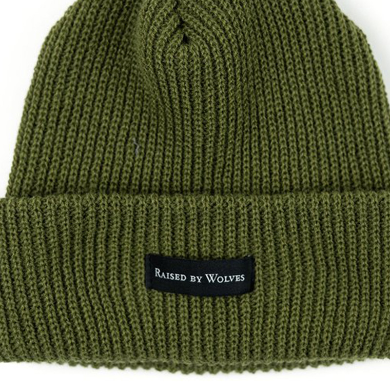 【RAISED BY WOLVES/レイズドバイウルブス】WAFFLE KNIT WATCH CAP ニット帽 / OLIVE