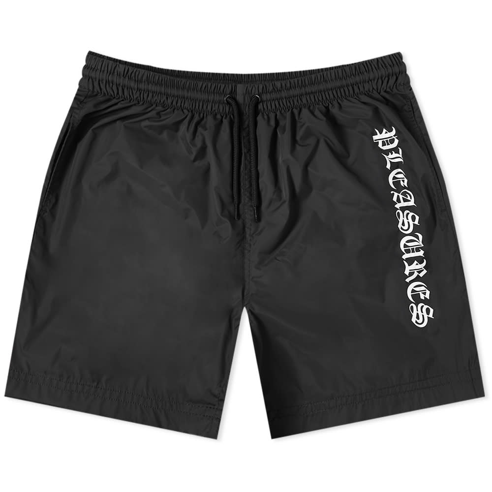 【PLEASURES/プレジャーズ】CULT SHORTS ショートパンツ / BLACK