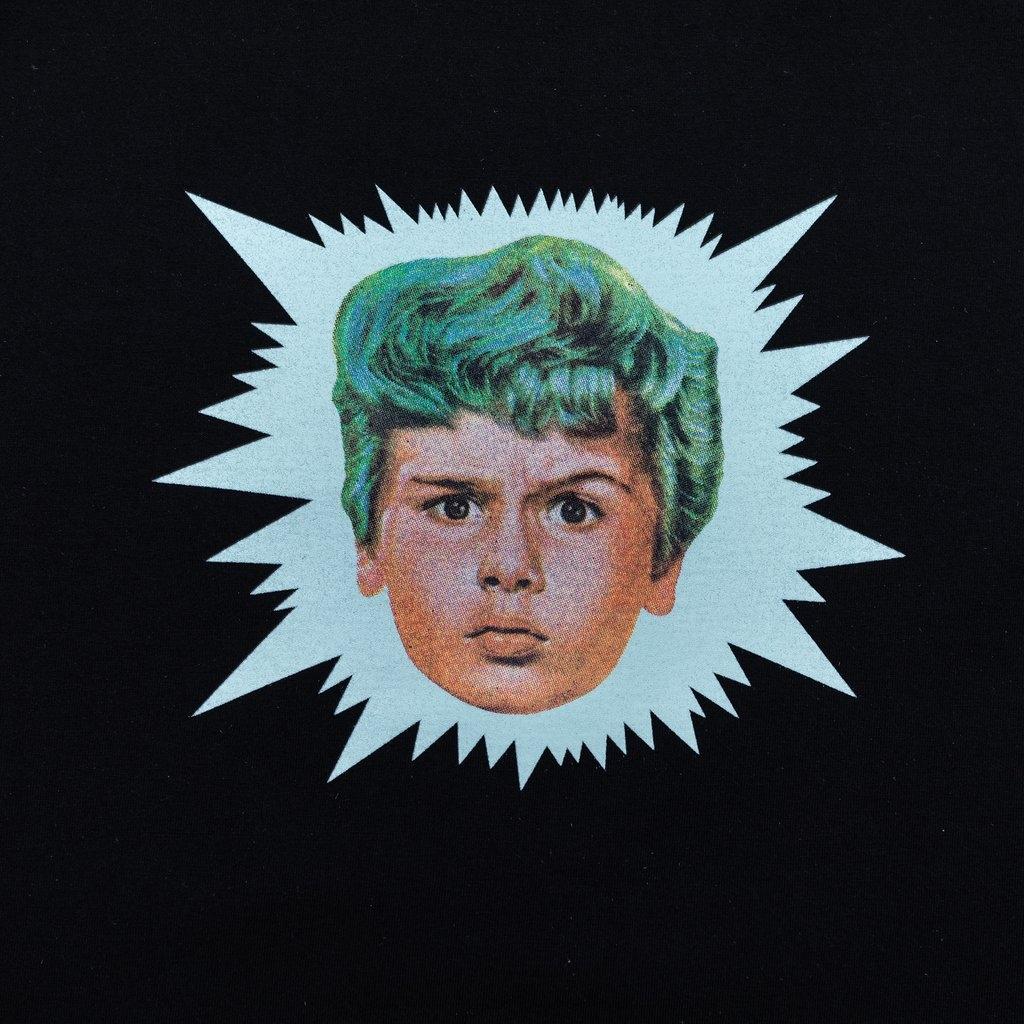 【RAISED BY WOLVES/レイズドバイウルブス】GREEN HAIR TEE Tシャツ / BLACK