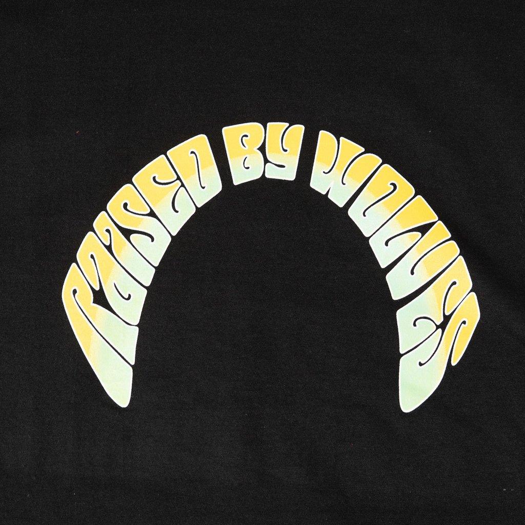 【RAISED BY WOLVES/レイズドバイウルブス】ACID LOGO TEE Tシャツ / BLACK