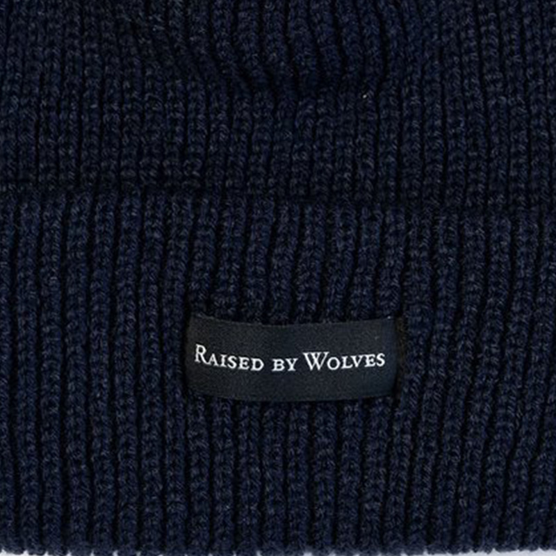 【RAISED BY WOLVES/レイズドバイウルブス】WAFFLE KNIT WATCH CAP ニット帽 / NAVY