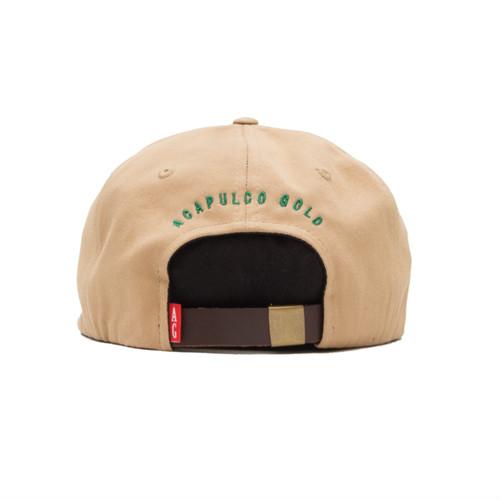 【ACAPULCO GOLD/アカプルコ ゴールド】MYB 6 PANEL CAP ストラップバックキャップ / KHAKI