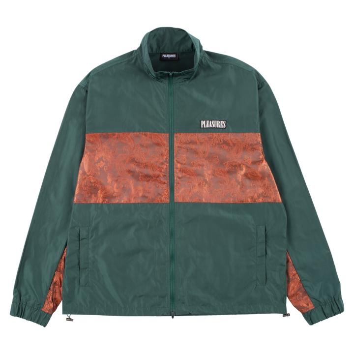 【PLEASURES/プレジャーズ】BLAST TRACK JACKET トラックジャケット / FOREST GREEN