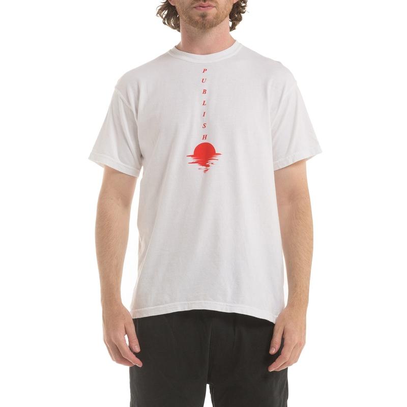 【PUBLISH BRAND/パブリッシュブランド】SUNSET Tシャツ / WHITE