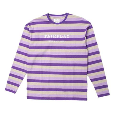 【FAIRPLAY BRAND/フェアプレイブランド】RUDY クルーネックシャツ / PURPLE