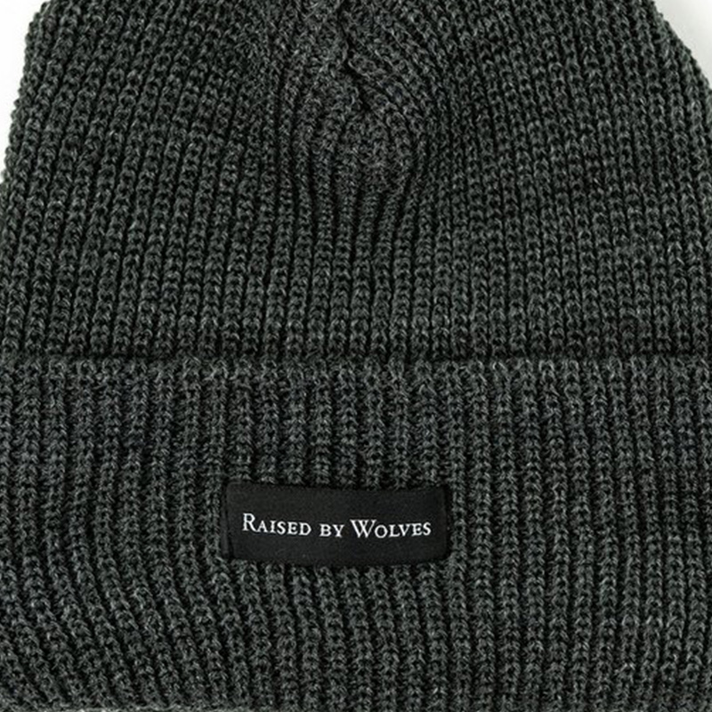 【RAISED BY WOLVES/レイズドバイウルブス】WAFFLE KNIT WATCH CAP ニット帽 / CHARCOAL