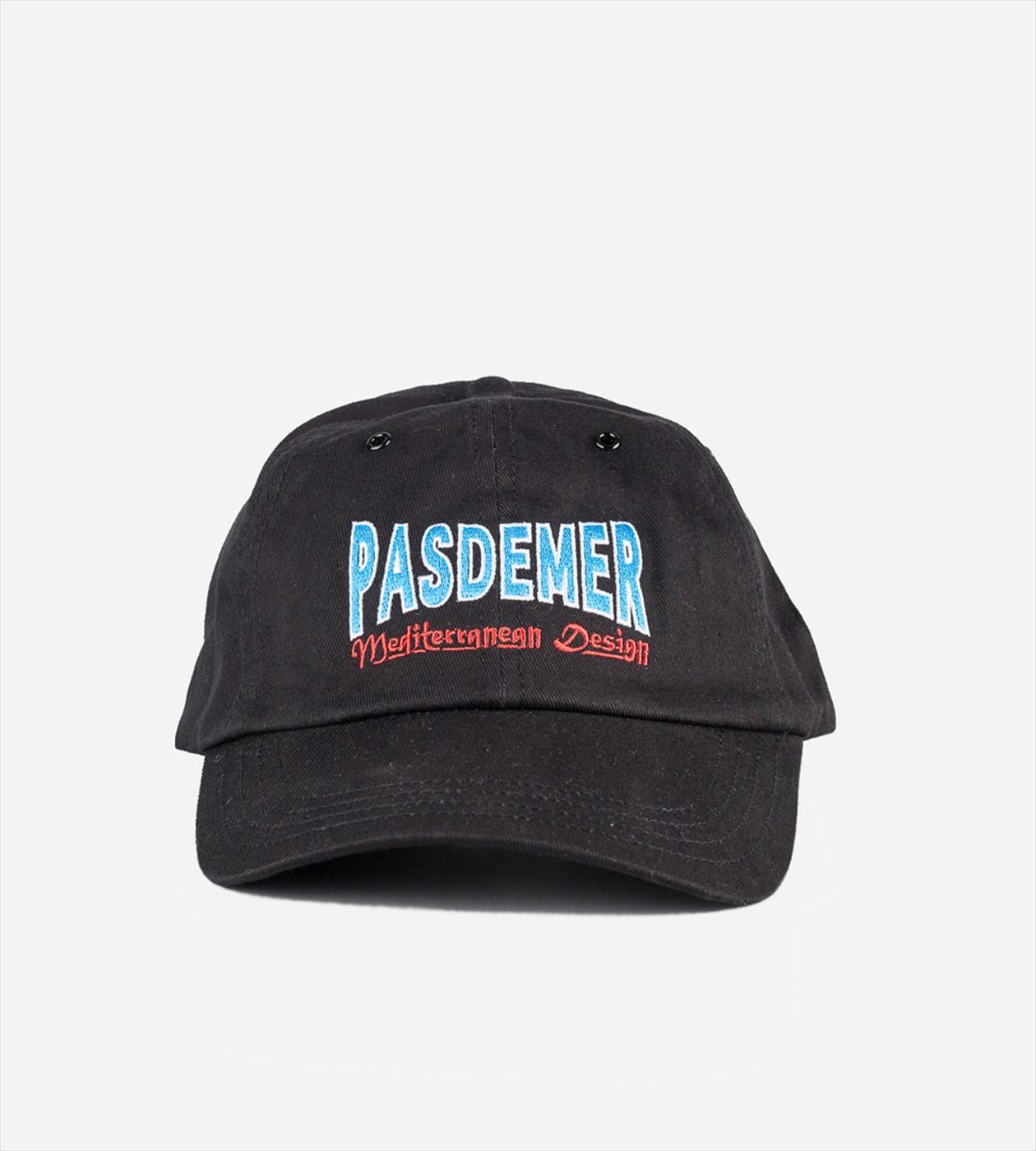【PAS DE MER/パドゥメ】MED. DESIGN BASEBALL CAP ベースボールキャップ / BLACK