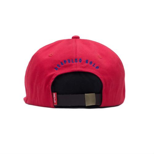 【ACAPULCO GOLD/アカプルコ ゴールド】MYB 6 PANEL CAP ストラップバックキャップ / RED