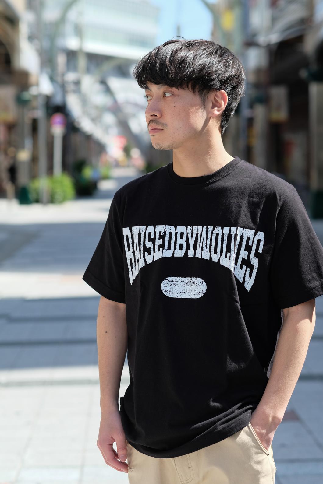 【RAISED BY WOLVES/レイズドバイウルブス】SPORTS TEE Tシャツ / BLACK
