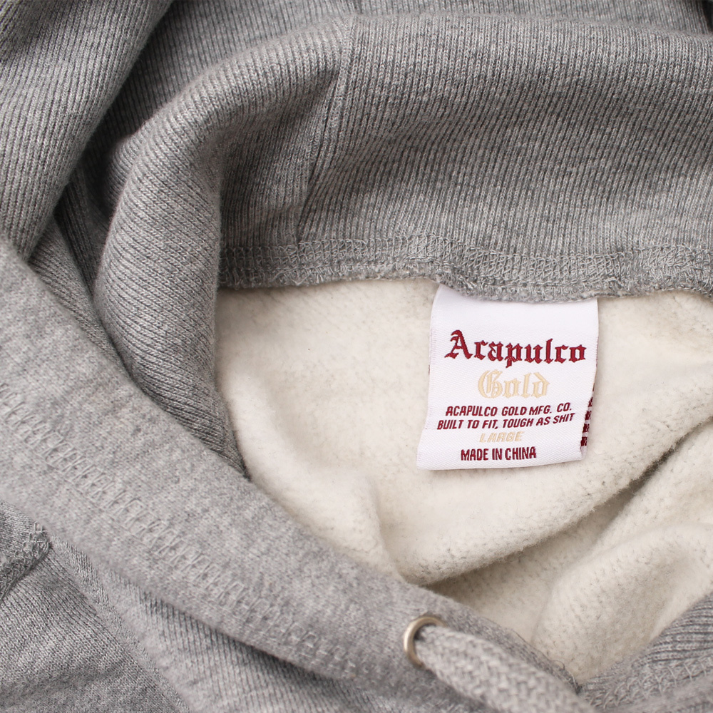 【ACAPULCO GOLD/アカプルコ ゴールド】WATCH OUT PULLOVER HOODIE パーカー / HEATHER GREY