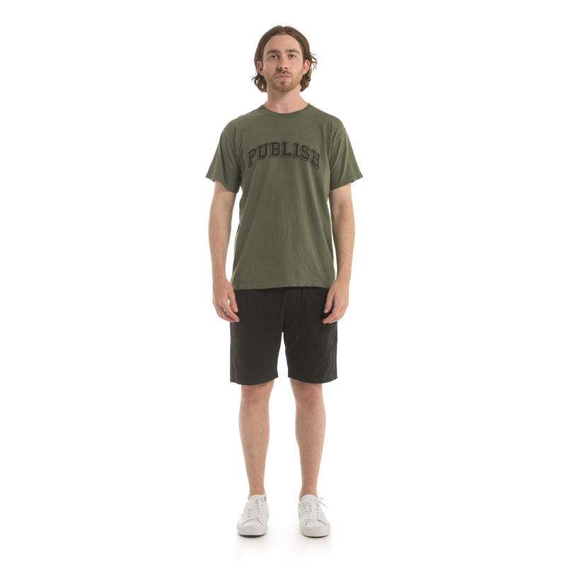 【PUBLISH BRAND/パブリッシュブランド】UNIVERSITY Tシャツ / OLIVE