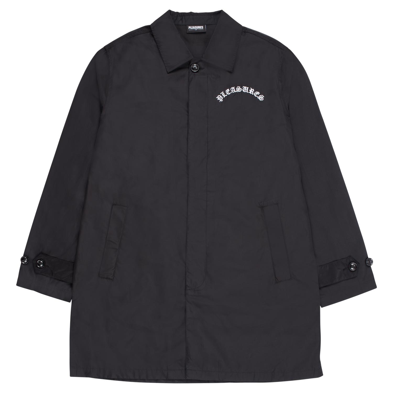 【PLEASURES/プレジャーズ】TOXIC LONG JACKET ロングジャケット / BLACK