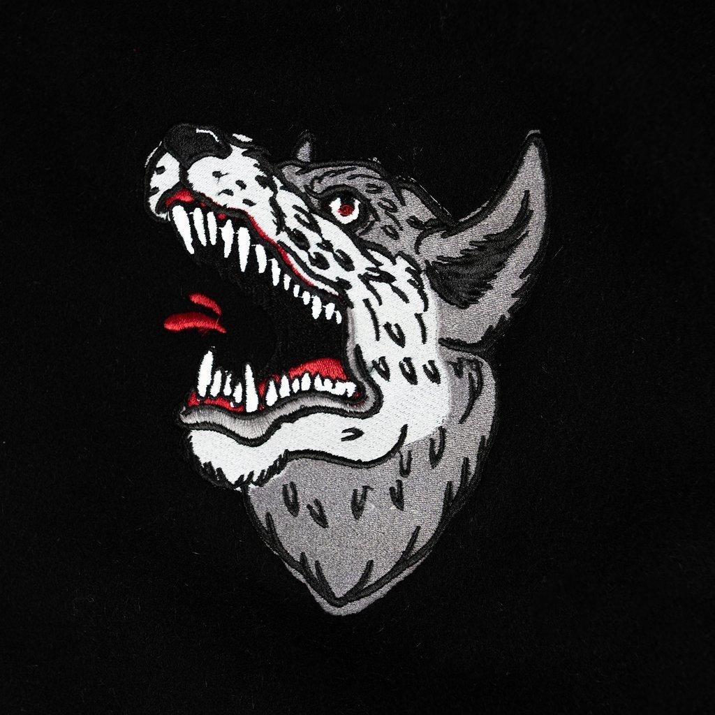 【RAISED BY WOLVES/レイズドバイウルブス】SOUVENIR REDUX VARSITY JACKET ジャケット / BLACK