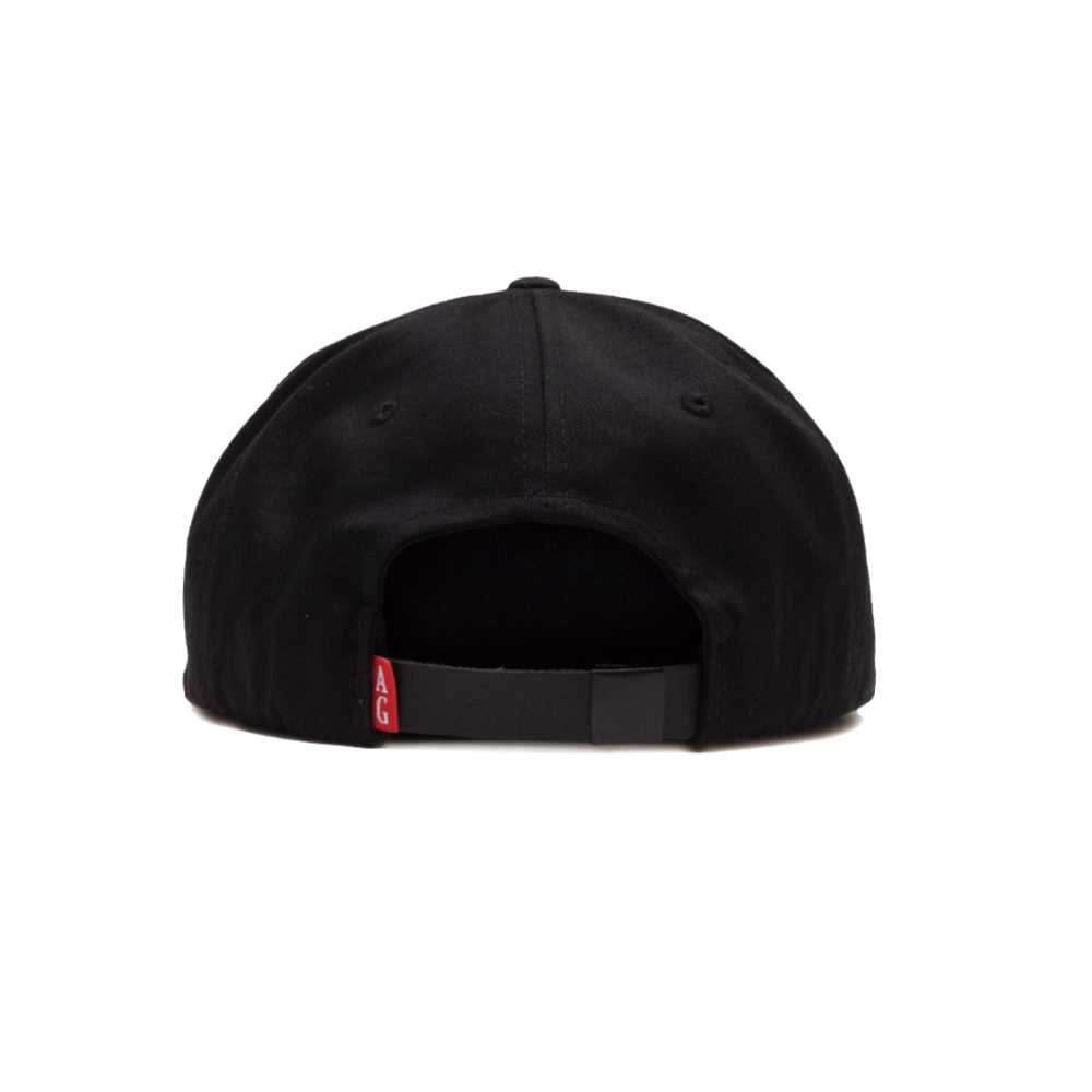 【ACAPULCO GOLD/アカプルコ ゴールド】NUTTY TWILL 6 PANEL CAP  ストラップバックキャップ / BLACK