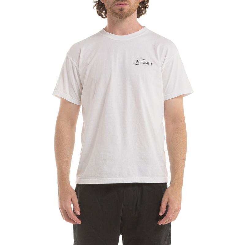 【PUBLISH BRAND/パブリッシュブランド】STENCIL Tシャツ / WHITE