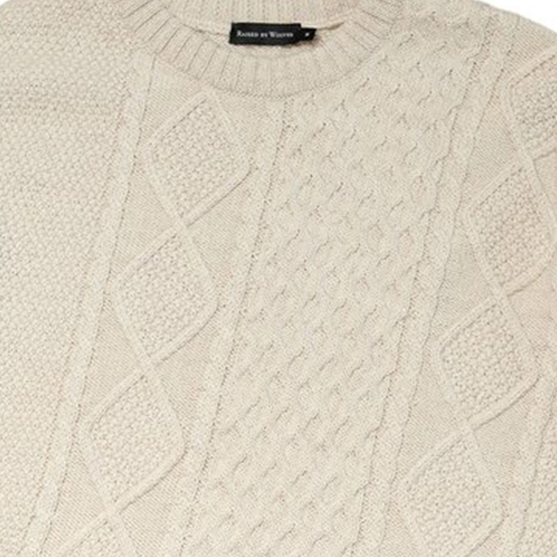 【RAISED BY WOLVES/レイズドバイウルブス】MCQUEEN SWEATER ニットセーター / OATMEAL